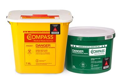 compass medical waste container