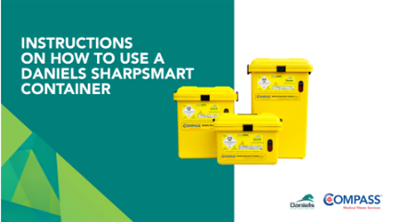 How to use Daniels Sharpsmart containers